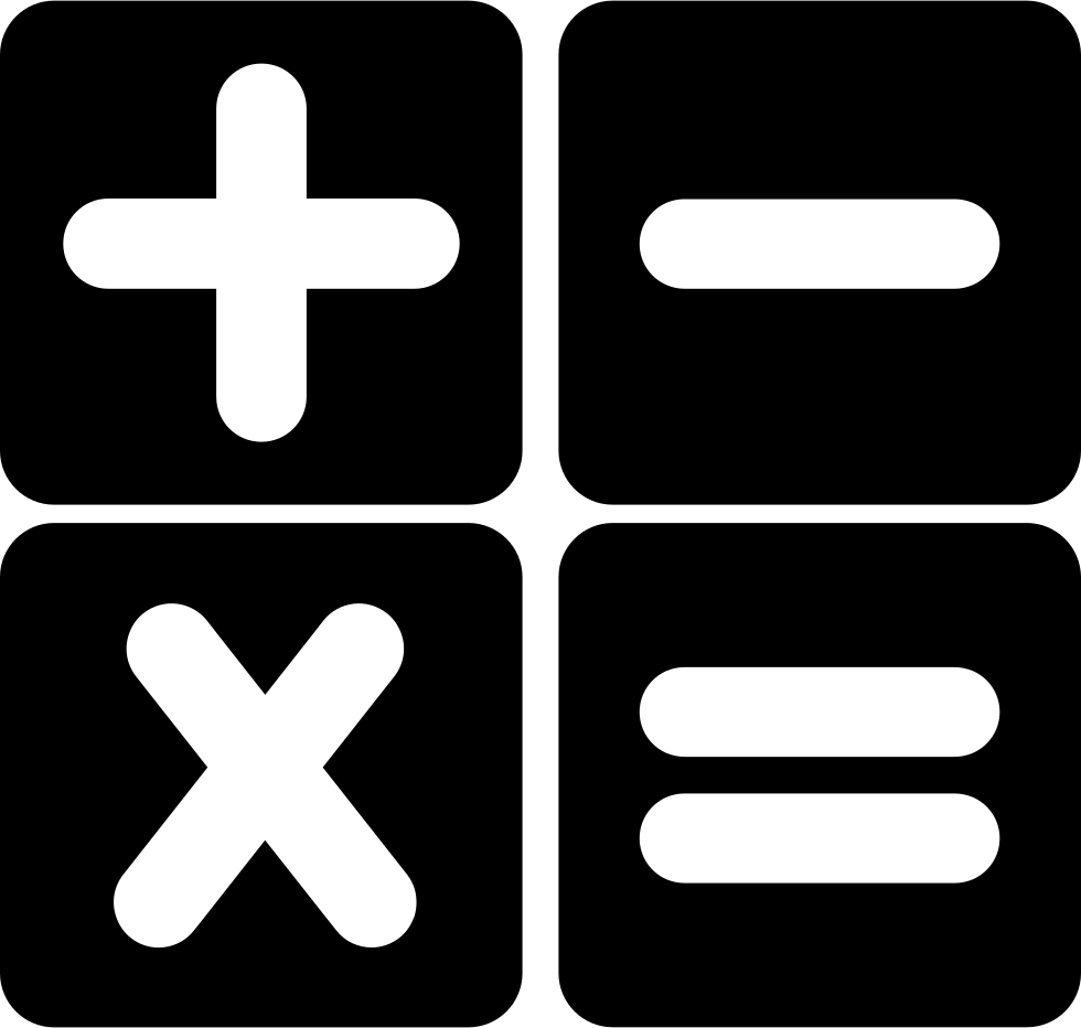 Calculator Buttons Interface Symbol