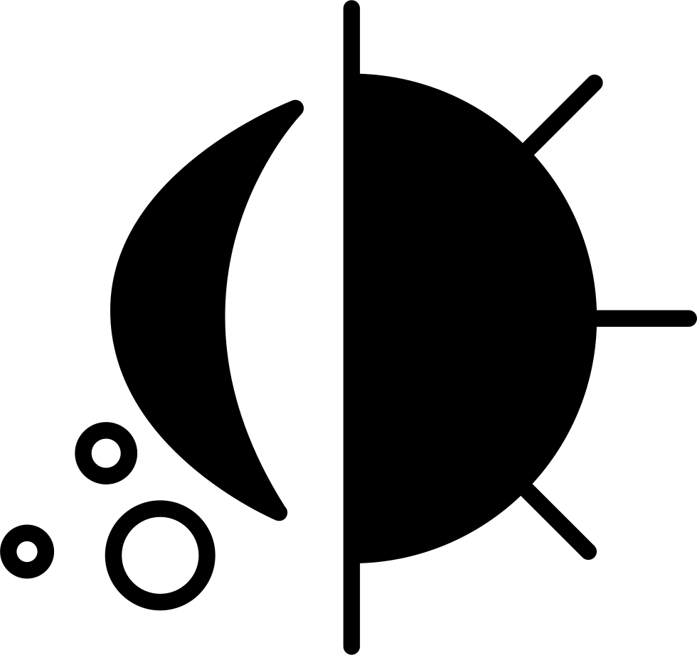 Day And Night Surveillance Symbol