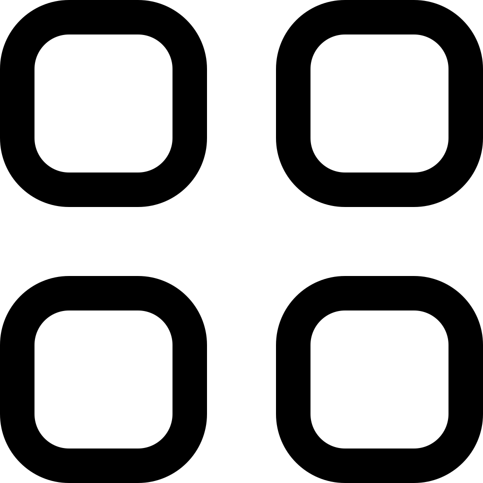 Four Rounded Squares Button