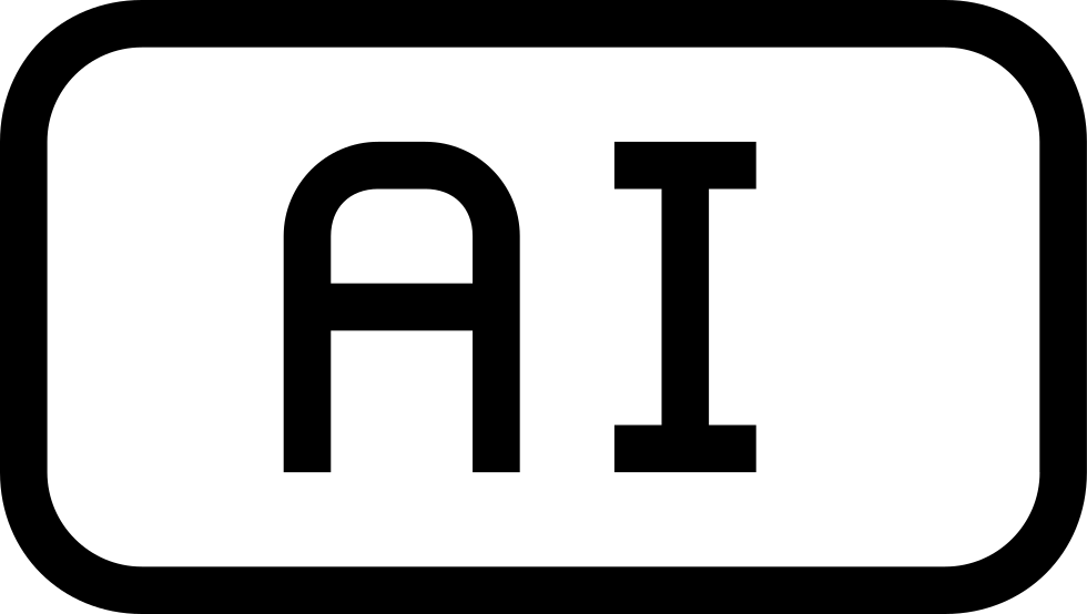 Ai File Type Rounded Rectangular Outlined Symbol Of Interface