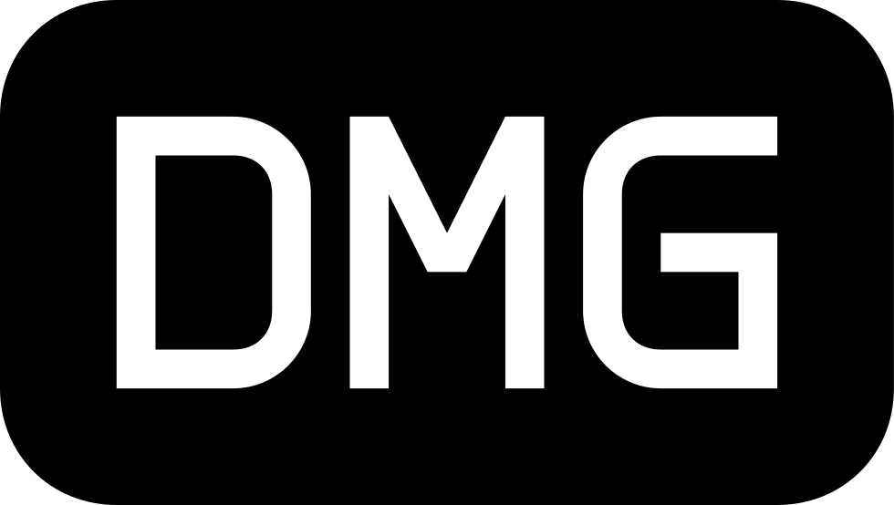 Dmg File Black Rounded Rectangular Symbol Of Interface