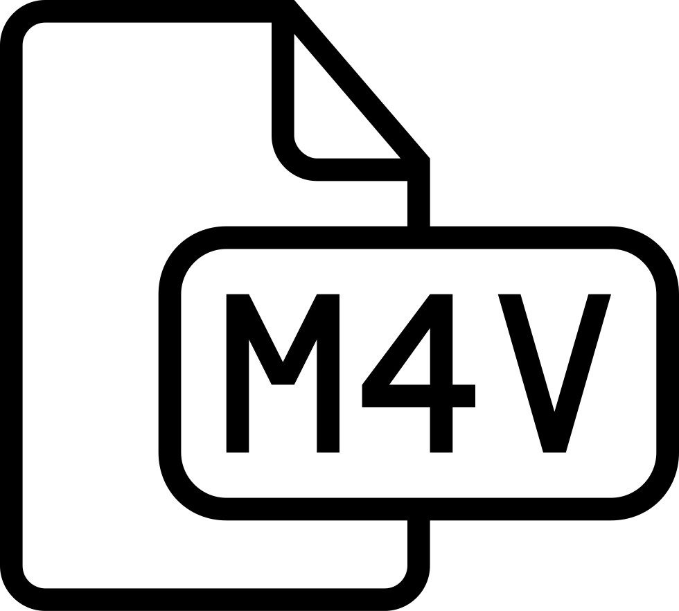 M4v File Type Outlined Interface Symbol