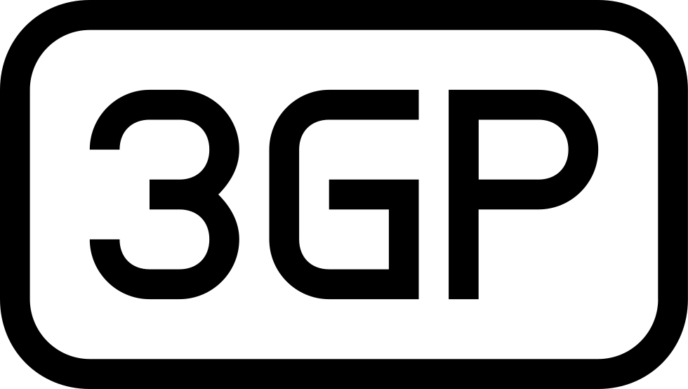 3gp Rounded Rectangular Outlined Interface Symbol