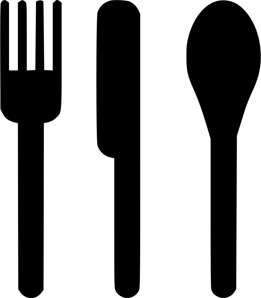 Line Drawing Knife And Fork : Silverware svg png icon free download