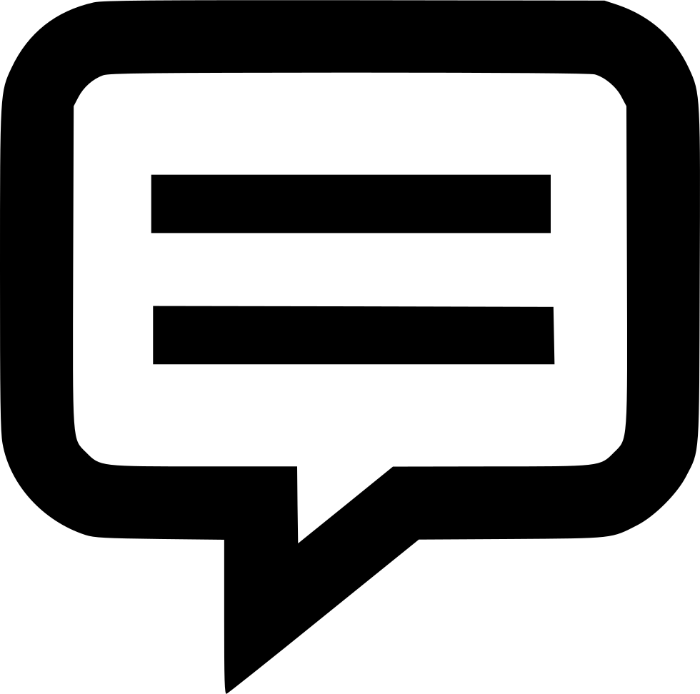 Speech Bubble Text Outline