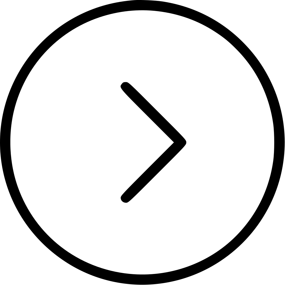 Circle Right Sign Character Shape