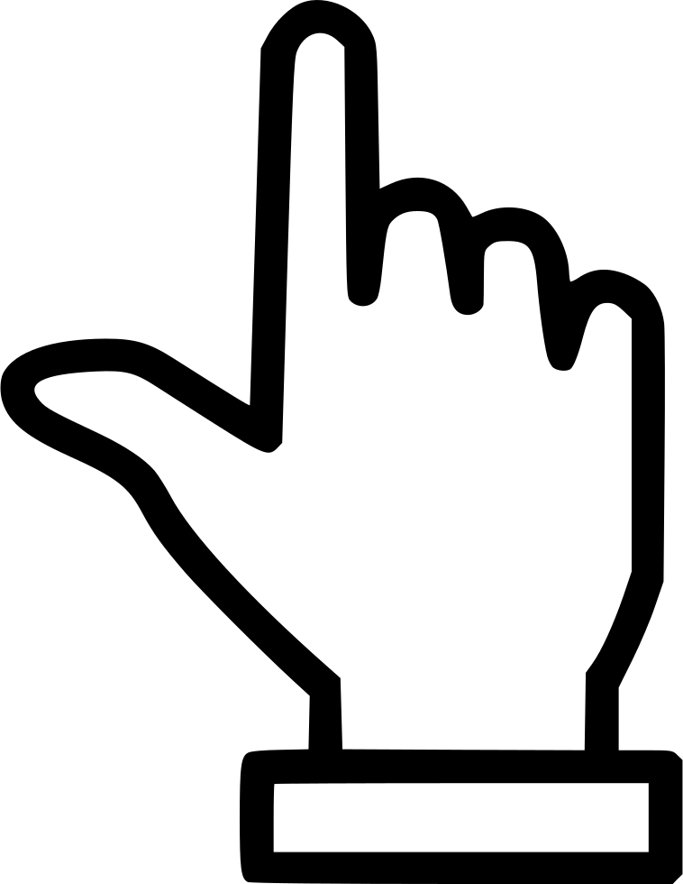 Hand Finger Pointing Up Svg Png Icon Free Download