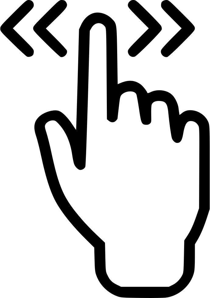 touch screen double hand finger svg png icon free download