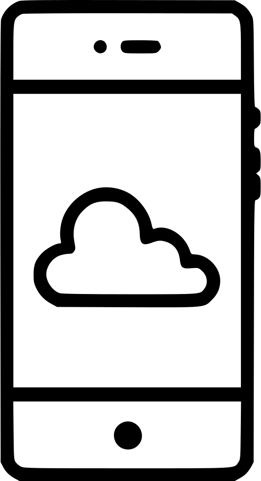 Cloud Online Storage Outline Stroke Ui