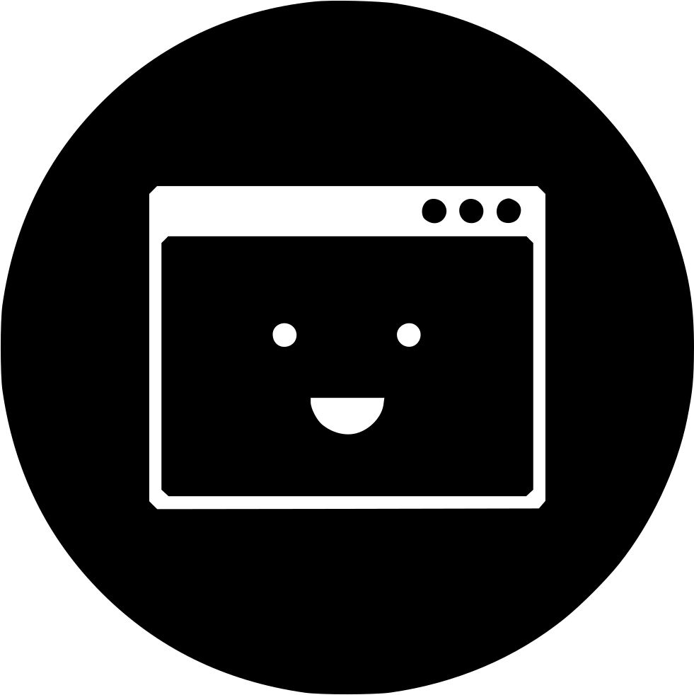 Browser Layout Design Happy Responsive Smiley