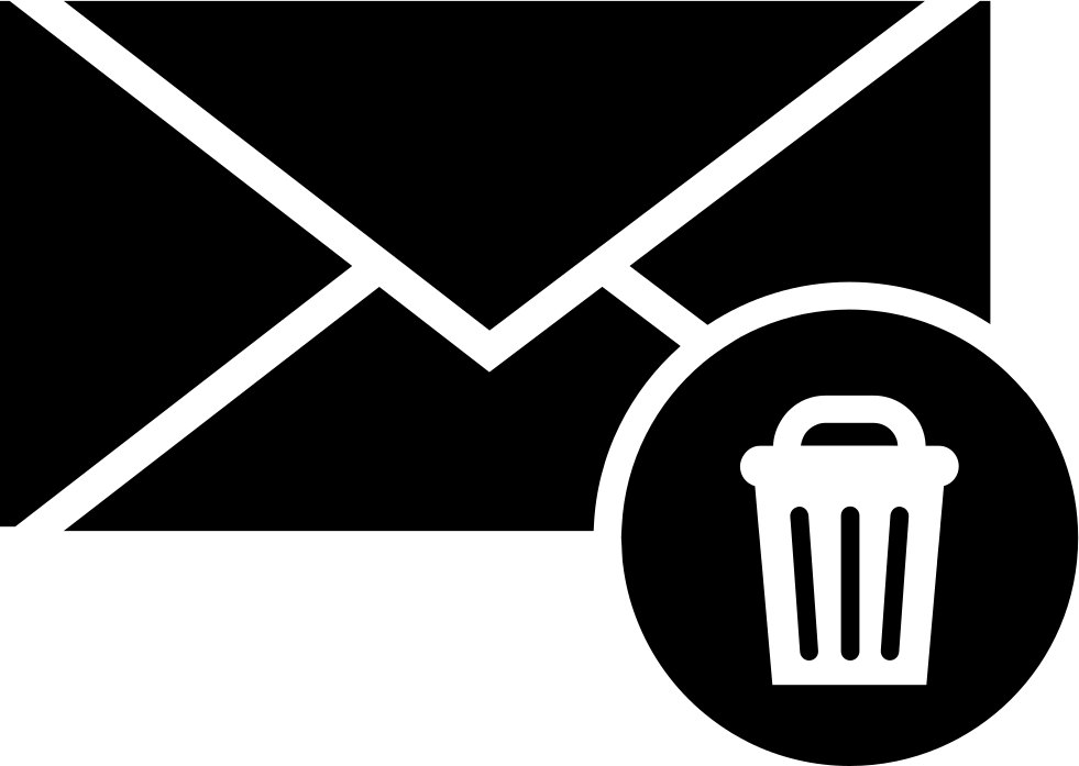 Envelope With A Recycle Bin Symbol