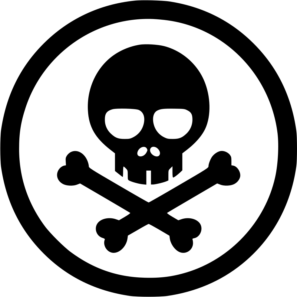 Toxic Symbol Black And White Danger Poison Venom To...