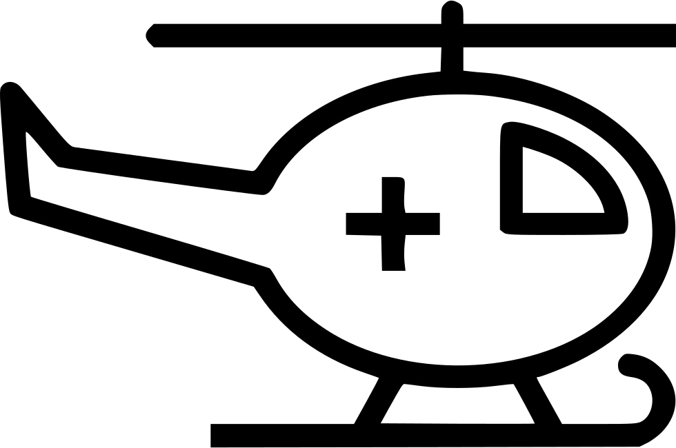 Emergency Helicopter Hospital Cross