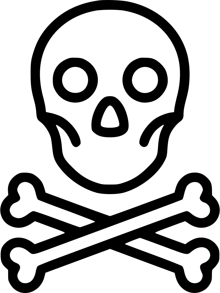 Skull Toxic Pirate Danger Bones