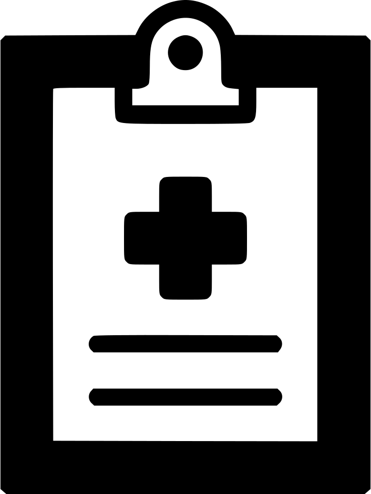 Medical Report File Pulse Clipboard Cross