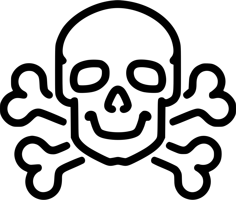 Danger Poison High Voltage Death Skull Jolly Roger Bone Bones Medicine