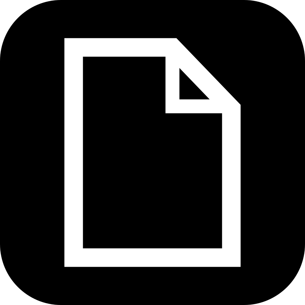 Paper Sheet Transparent With White Outline Inside A Black Rounded Square