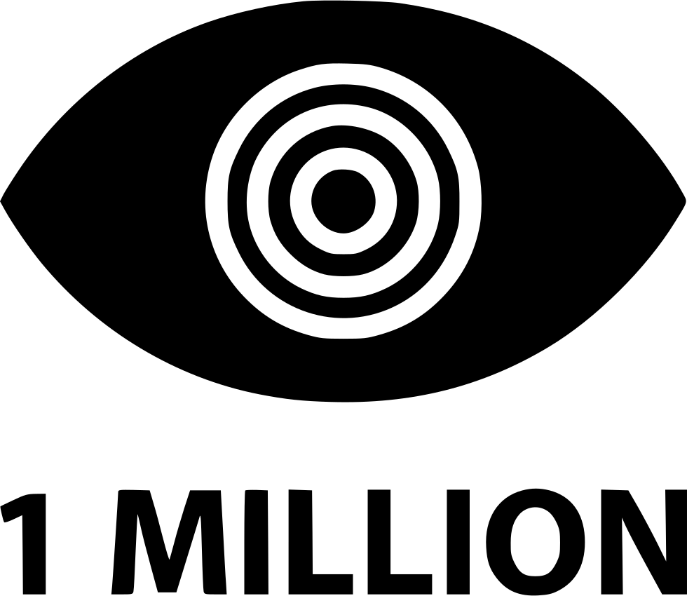 One Million Views Eye Look