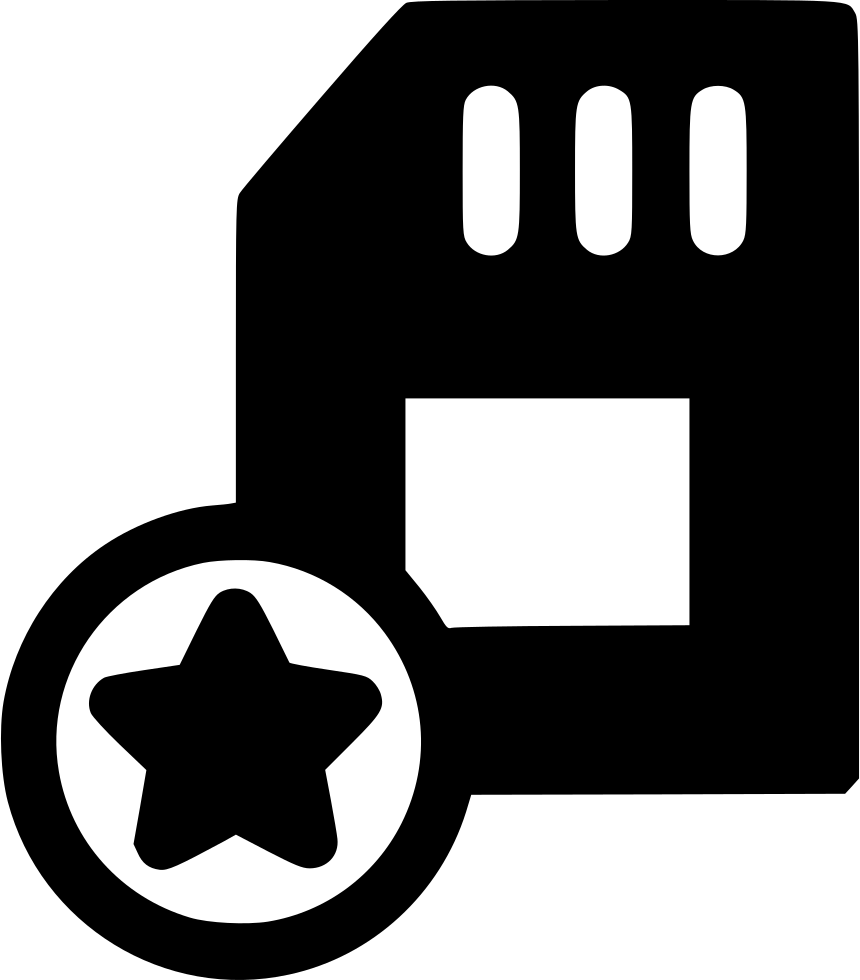 Bookmark Starred Sd Card Storage