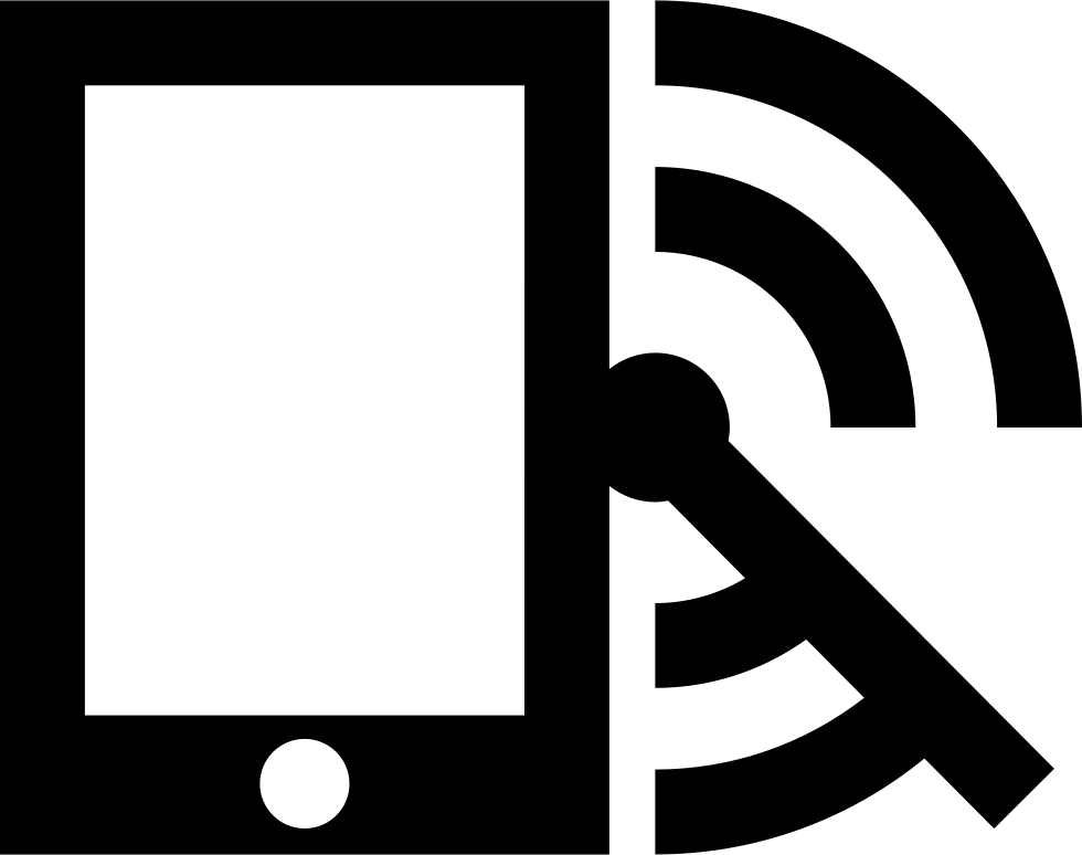 Mobile Phone With Radar And Rss Feed Symbol
