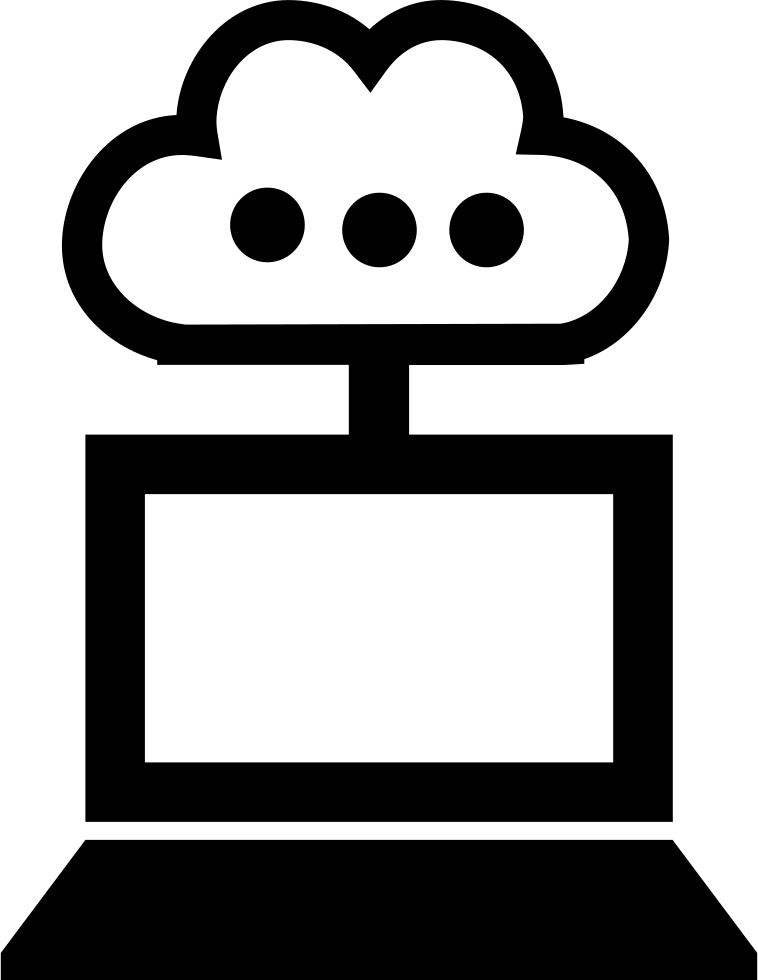 Computer Cloud Connection Interface Symbol