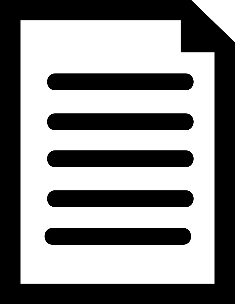 Document Symbol With Text Lines