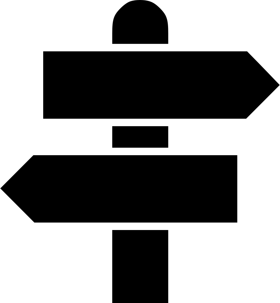 Road Sign Direction Way