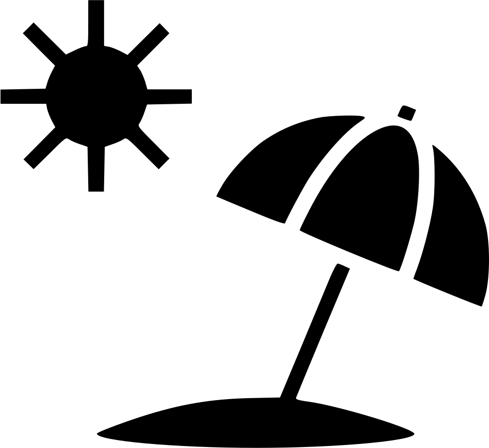 Sun Summer Umbrella Beach Svg Png Icon Free Download