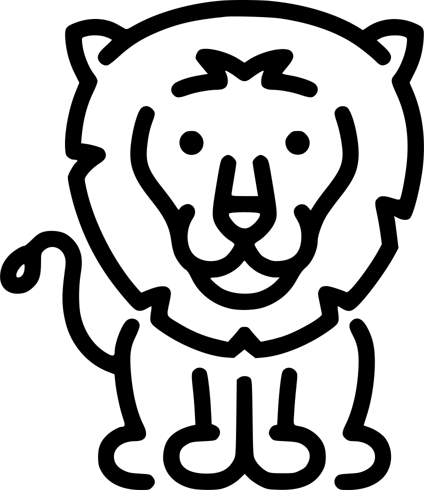 Download Lion Svg Png Icon Free Download (#498837) - OnlineWebFonts.COM