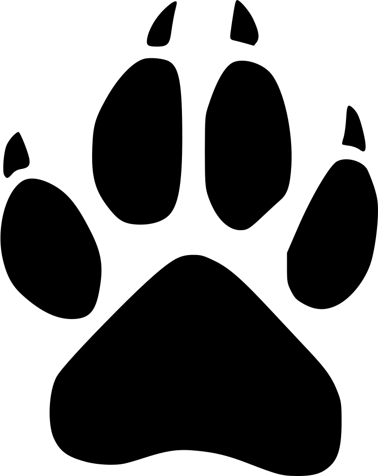 wolf footprint wild svg png icon free download   498869 wildcat clipart paw wildcat clipart mascot