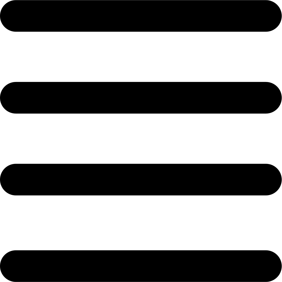 Four Horizontal Lines Interface Symbol