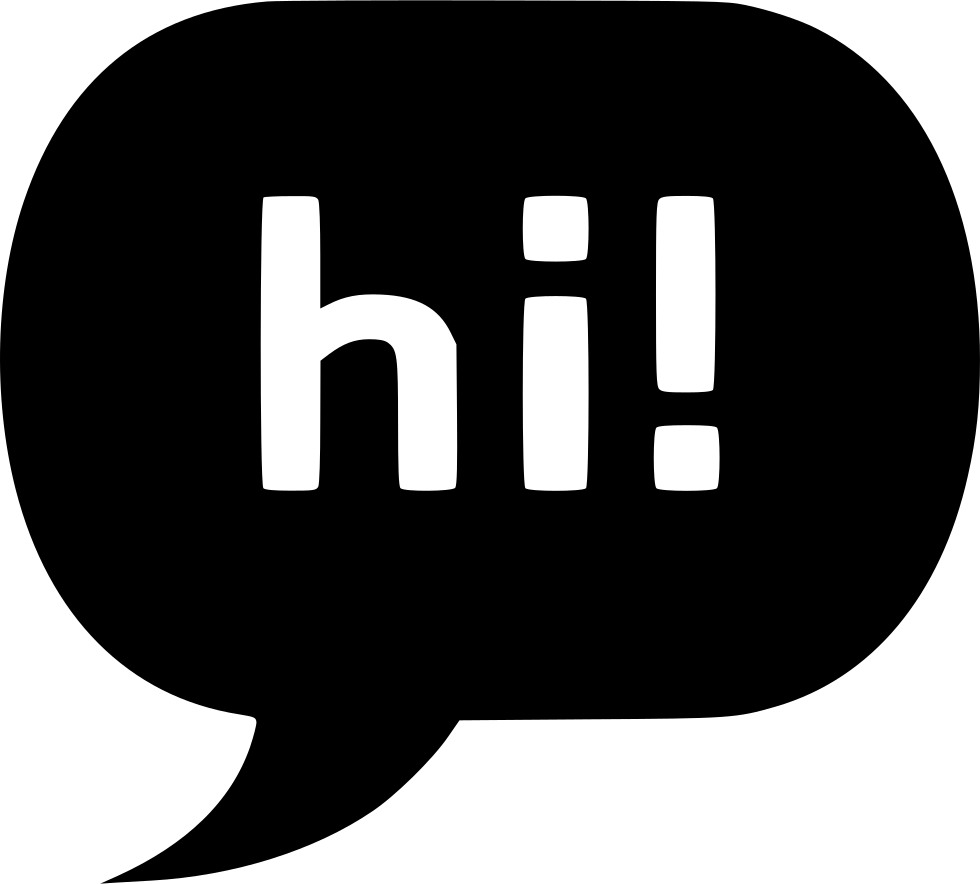 hi chat bubble svg png icon free download 500837