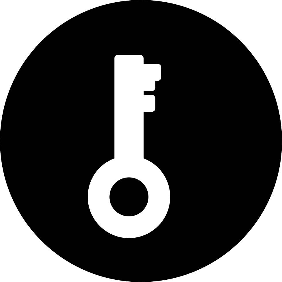 Key Password Interface Symbol In A Circle