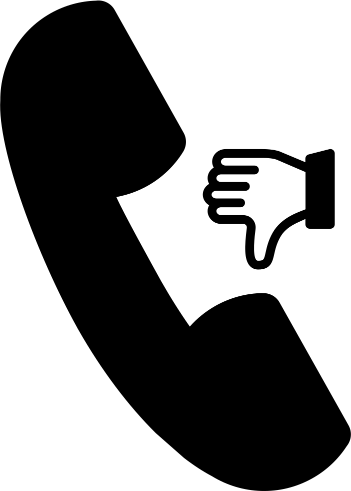 Call Symbol With Thumb Down Sign