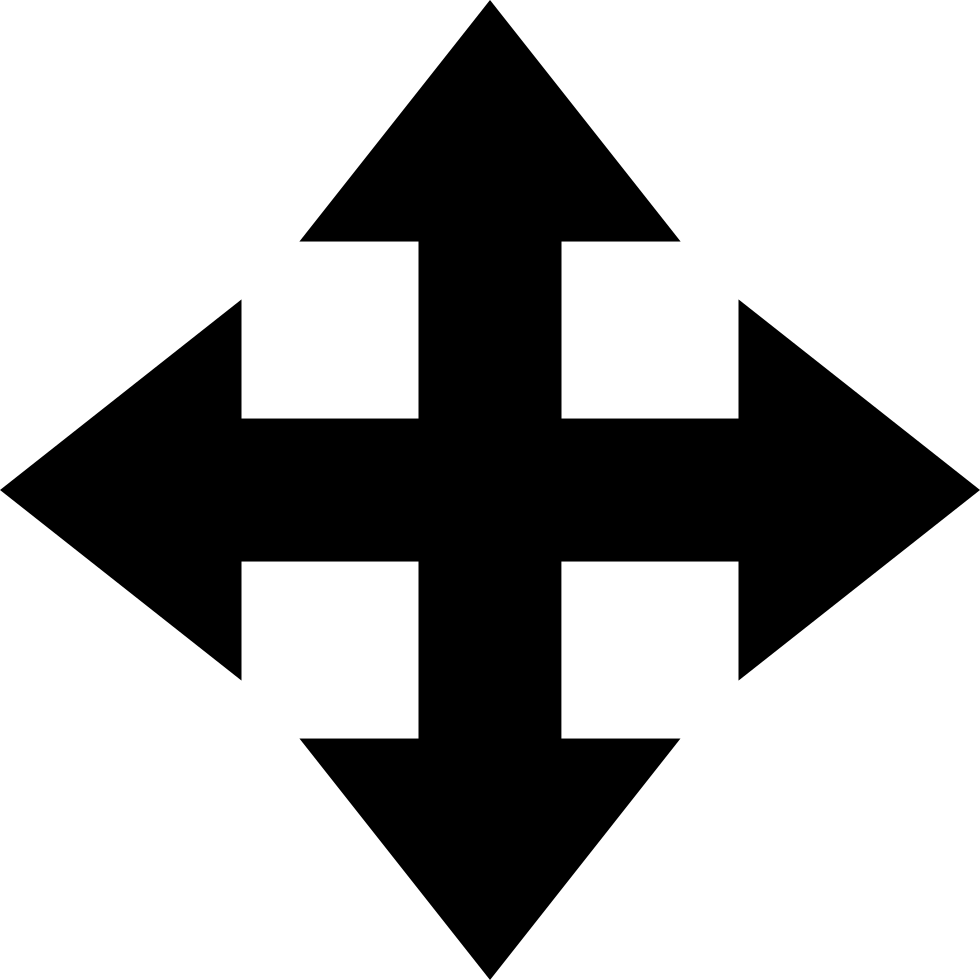 Move Arrows Interface Symbol