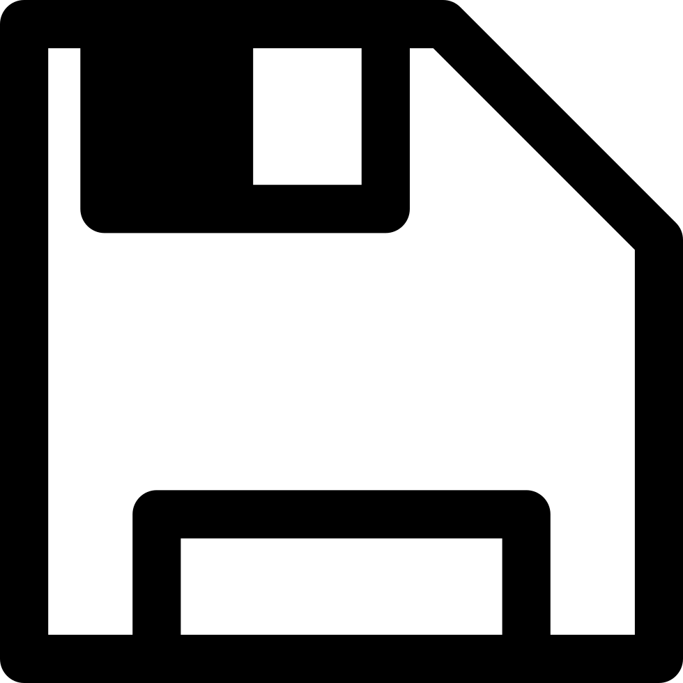 Save Floppy Disc Interface Symbol