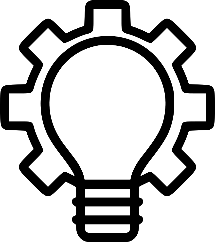 Idea Bulb Innovation Startup Light Settings Gear Svg Png ...