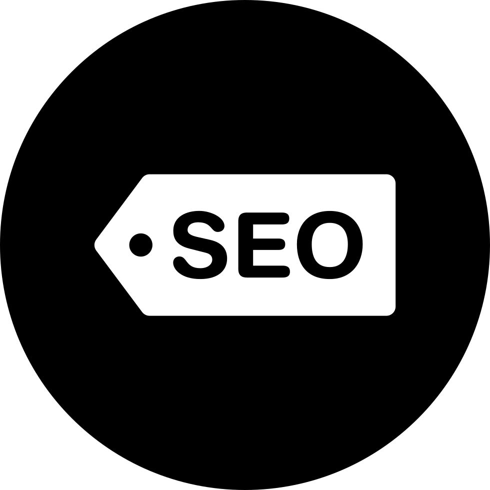 SEO Label Tag Inside A Circle