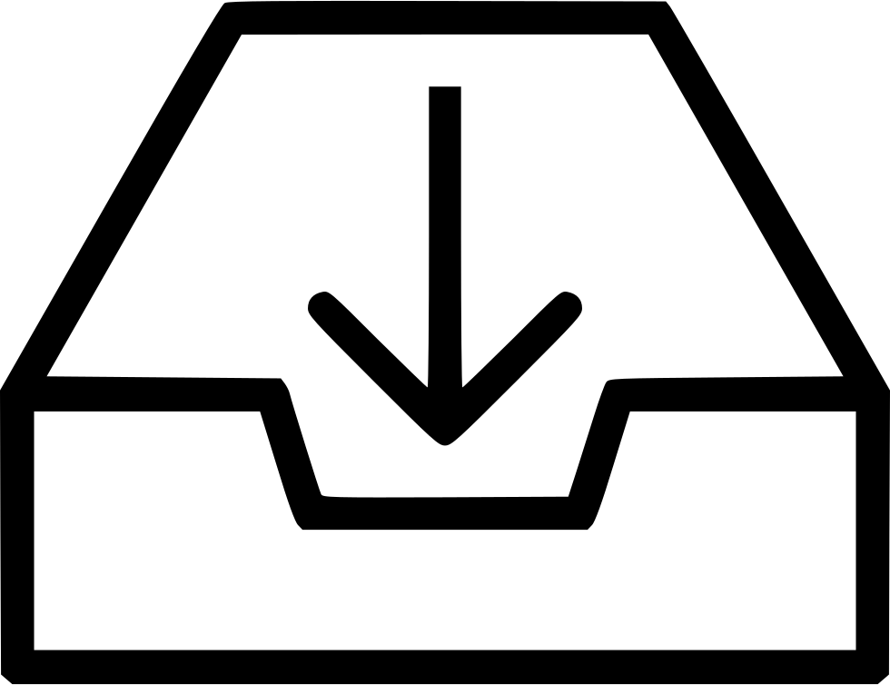 Box File Document Container Arrow Down