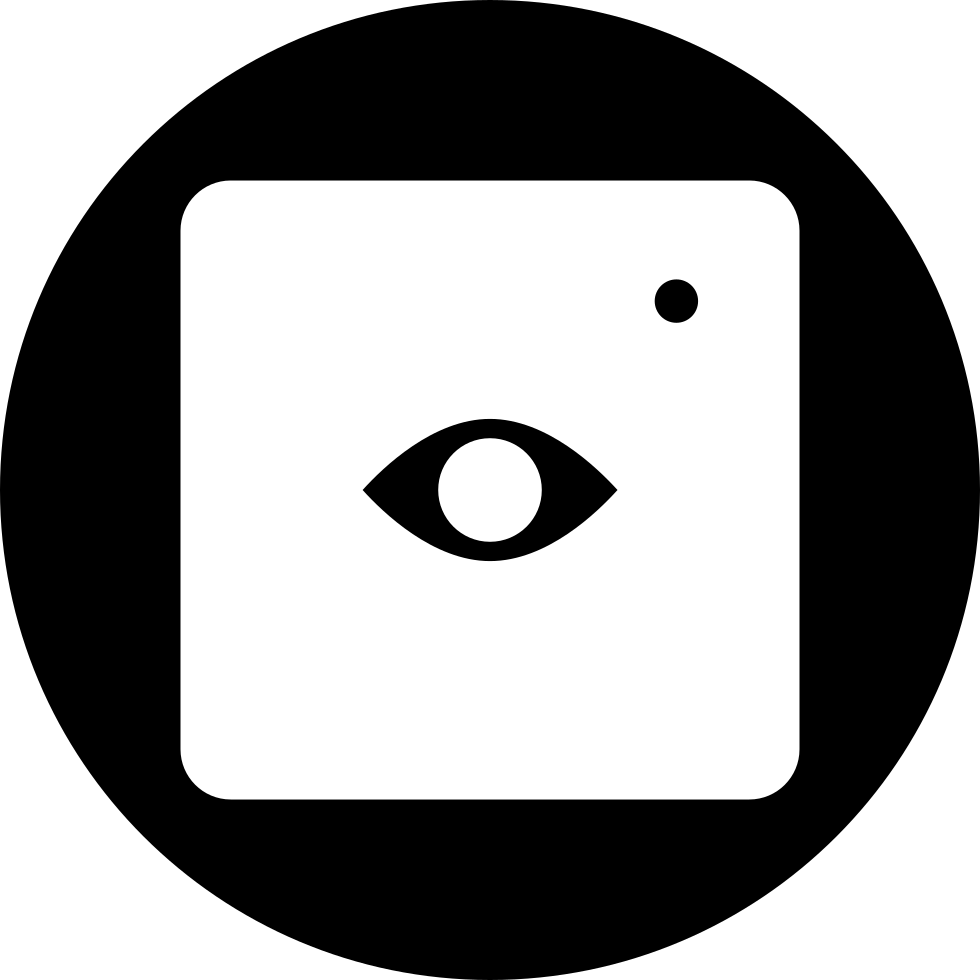 Eye Surveillance Symbol In A Square In A Circle