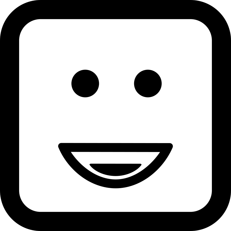 Smiley Of Square Rounded Face