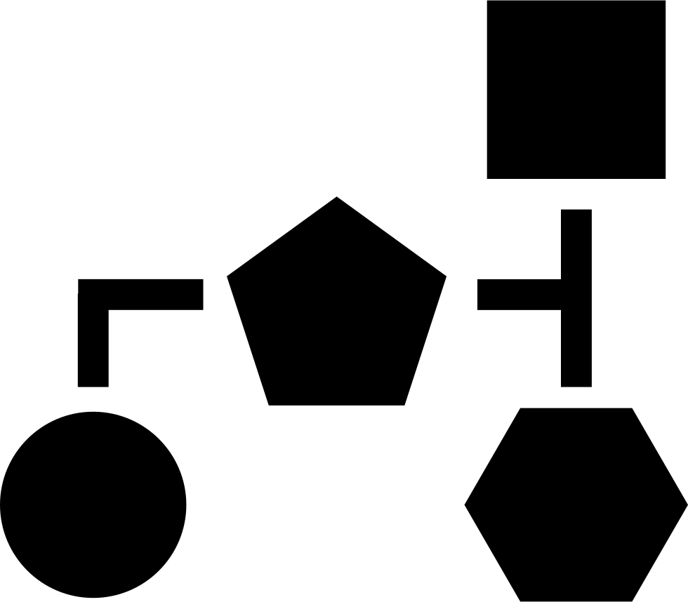 Block Scheme Of Basic Black Geometric Shapes