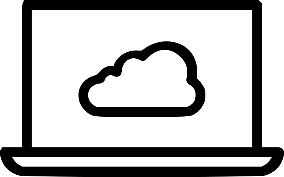 Laptop Computer Device Cloud Data Storage Online