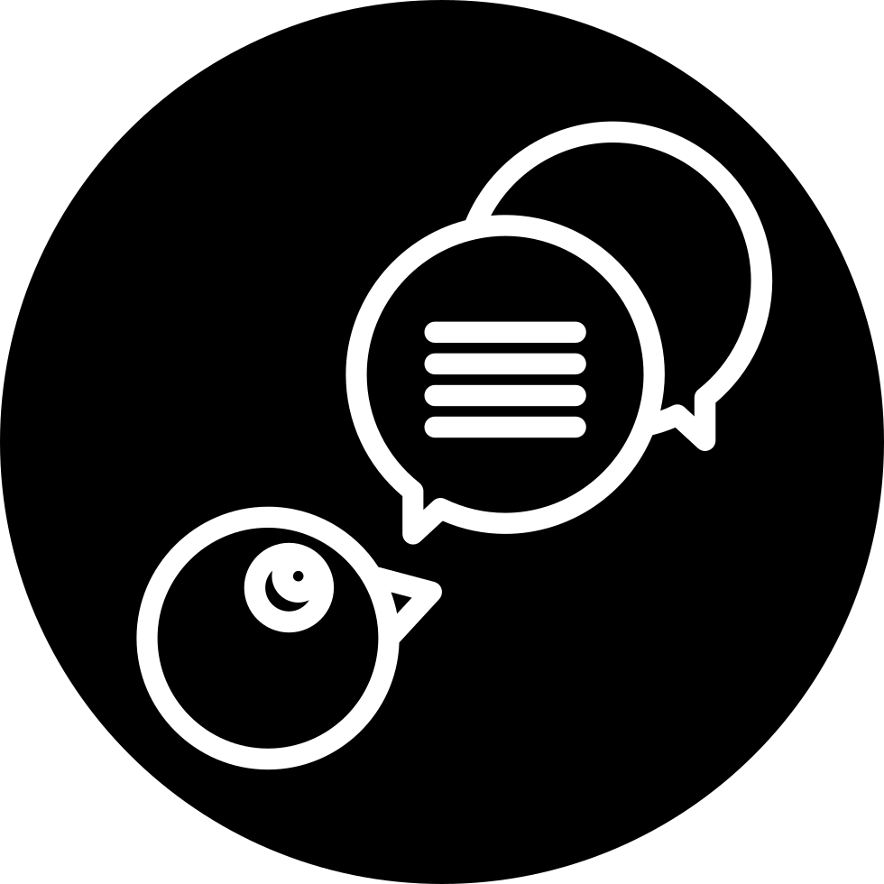 Speech Bubbles Outline Symbol In A Circle