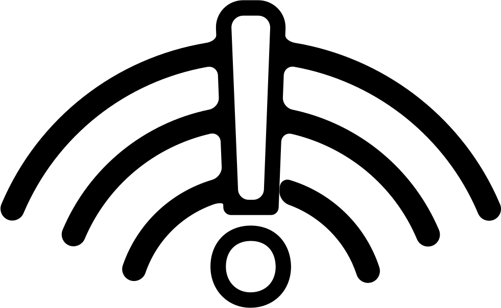 Wifi Connection Warning Symbol