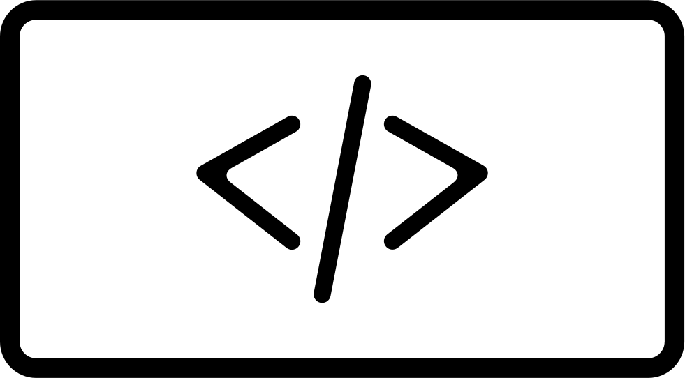 Slash With Two Opposite Arrows Signs In A Square