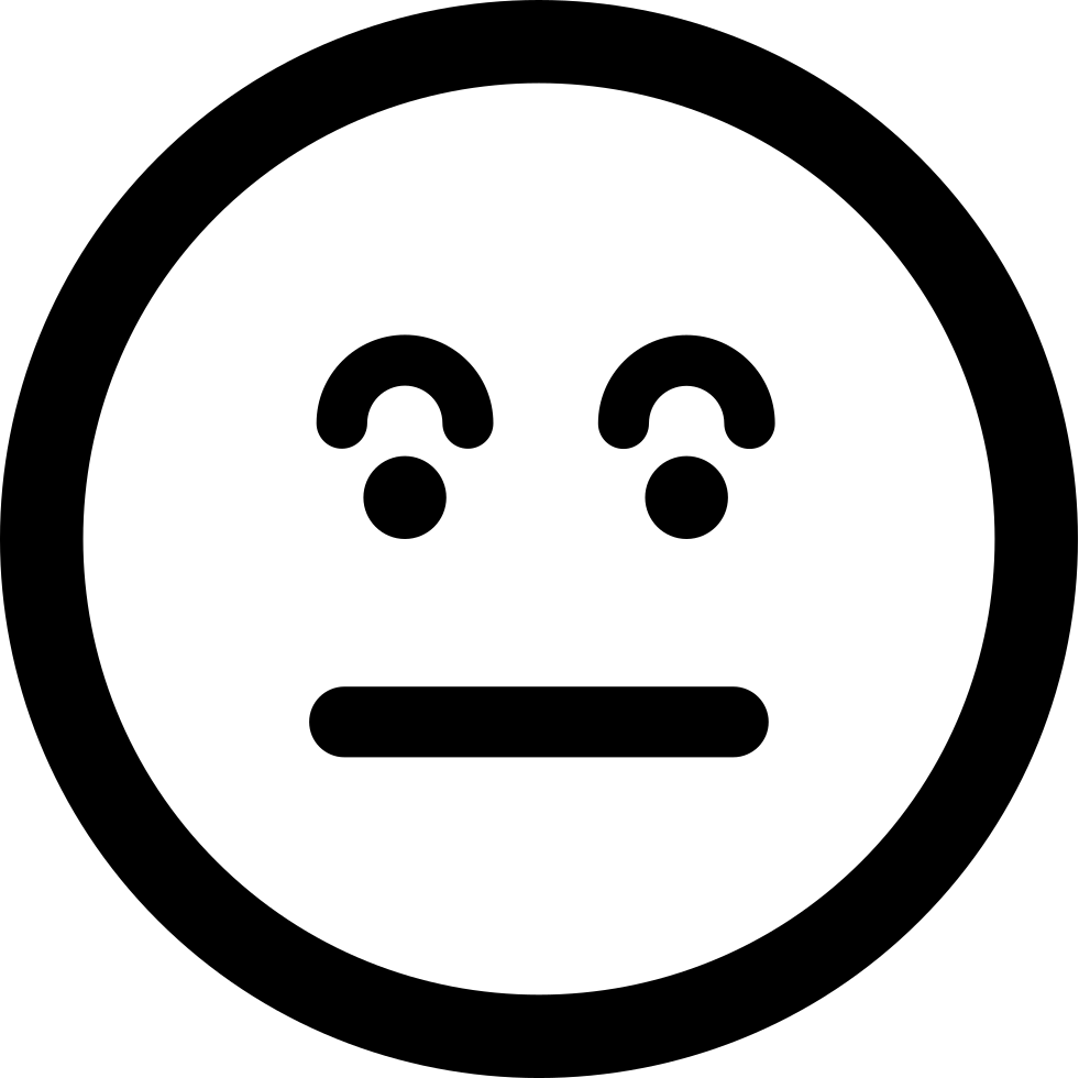 Surprised Emoticon Square Face