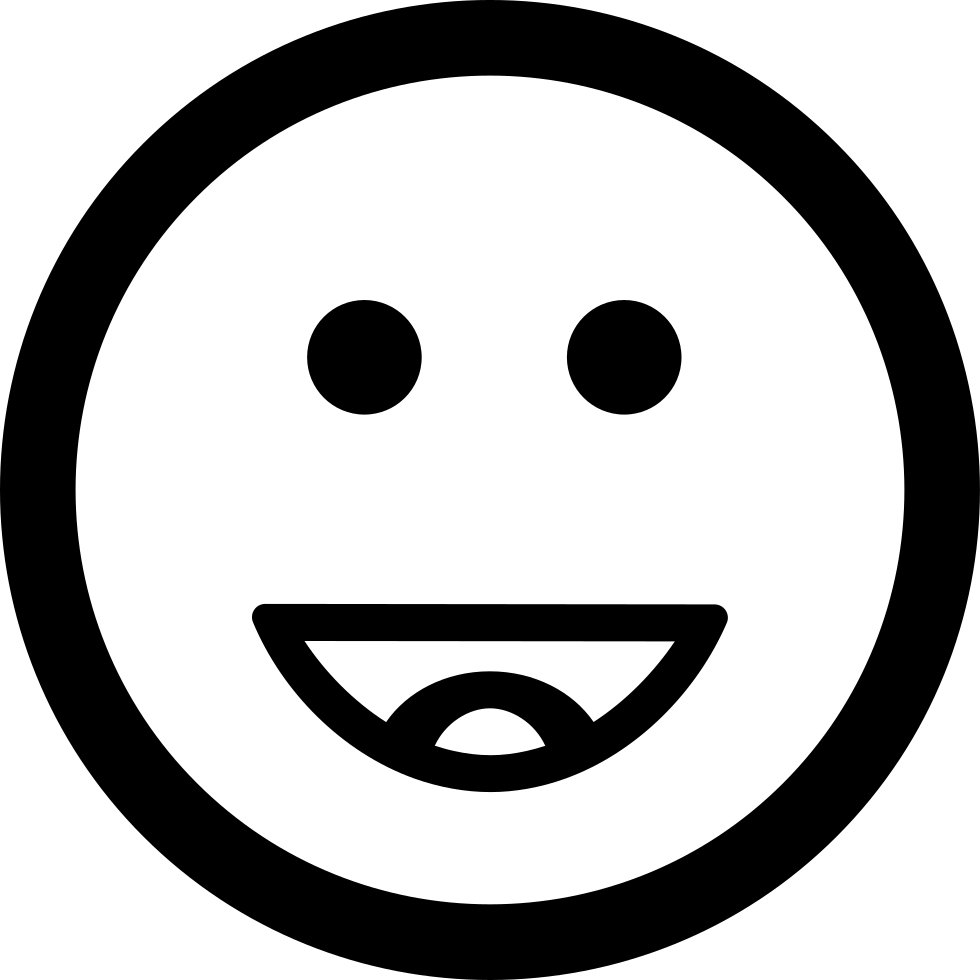 Happy Smiling Emoticon Square Face