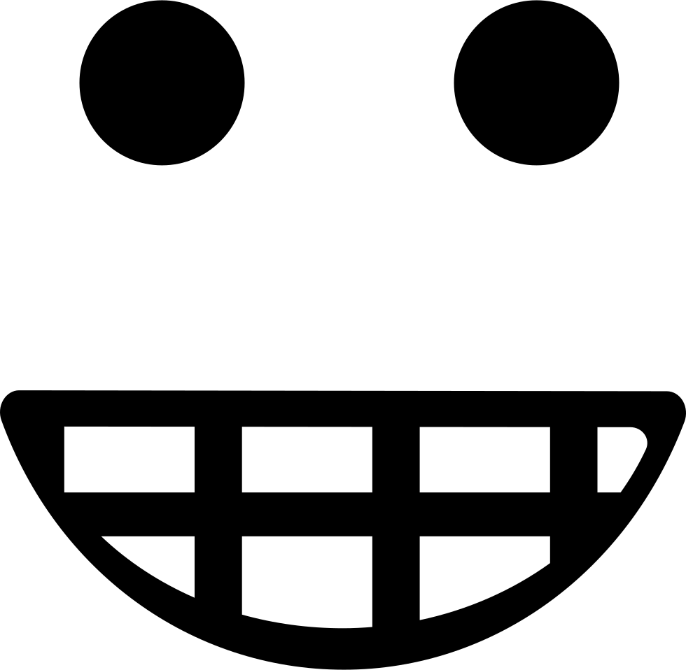 Emoticon Smiling Square Face