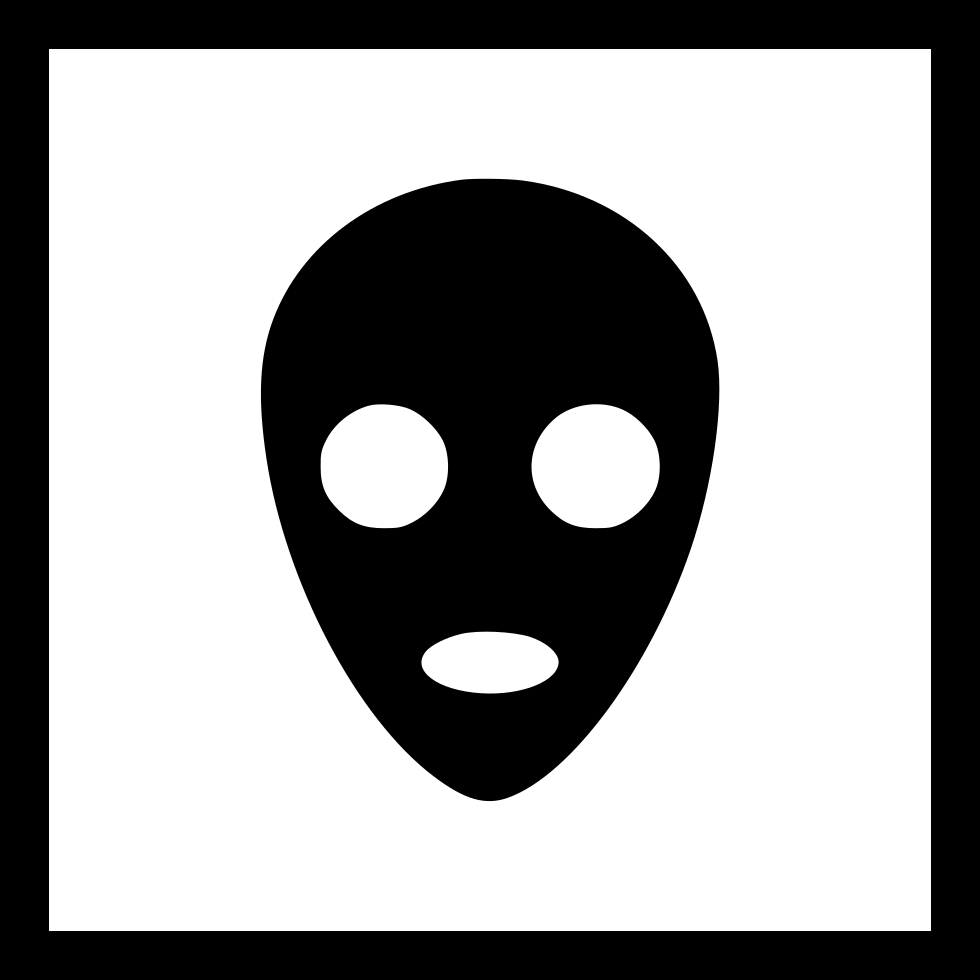 Alien Face Mask Ufo Sign